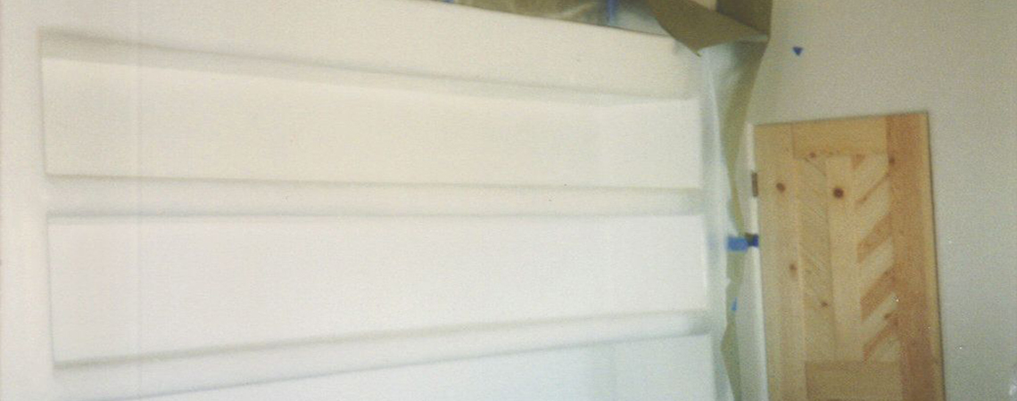 Shelving Plaster In Progress